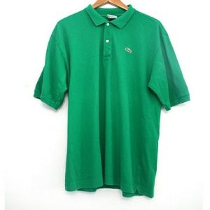 Lacoste Green Alligator Polo Shirt Size 7 XL